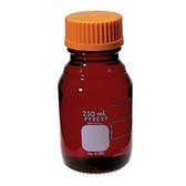 Chemglass Pyrex Media Bottle, 100mL, Low Actinic, GL45 Cap, case/4