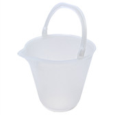 Plastic Bucket, Graduated Pail, Polypropylene, 12 L (3 gal) case/4