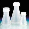 Erlenmeyer Flasks, Polypropylene with Screw caps, 50mL, case/6