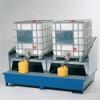 2-Tote IBC Containment Platform, with 2 Dispensing Stands, and Splash Guard (Painted)