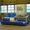 Denios 2-Tote IBC Containment Platform with Single Dispensing Stand, Painted Steel