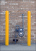 "Bollard Covers, 4"" x 56"" Bumper Bollard Post Sleeve, Smooth, Yellow or Red"