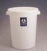 Nalgene Lab Solid Storage Container, Round, w/Cover, HDPE, 20L, case/6