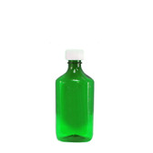 Oval Pharmacy Bottle, Green, Graduated, Child-Resistant, 8oz, case/100