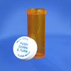 Amber Pharmacy Vials, Child Resistant Caps, 6 dram (22mL), case/650