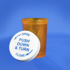 Amber Pharmacy Vials, Child Resistant Caps, 20 dram (74mL), case/360