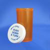 Amber Pharmacy Vials, Child Resistant Caps, 40 dram (148mL), case/180