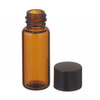 1.8mL Economy Vials, Glass Amber, 8-425 Cap, Rubber Liner, case/200