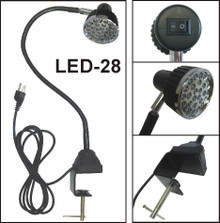 LED - 28 With AC Plug & Mounting Clamp