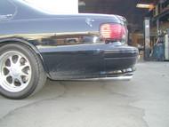 """94-96  Impala 3"""" Polished Stainless Steel Slash Cut Tips"""
