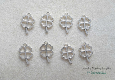 Silver 4 leaf lucky charm pendant jewelry making supplies silver 4 leaf lucky charm pendant jewelry making supplies aloadofball Gallery
