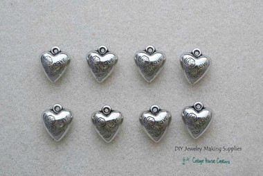 Puffy heart acrylic charm pendant jewelry making supplies pendant jewelry making supplies image 1 aloadofball