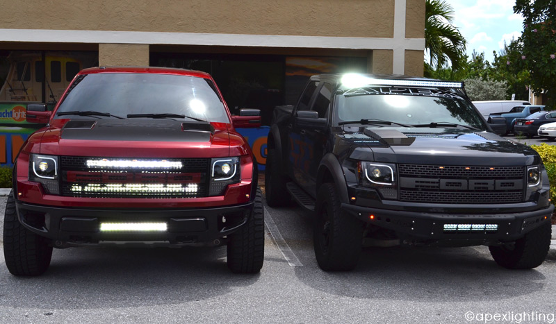 raptor red black recon litup?t=1440862379 ford raptor recon led projector headlights apexlighting rigid wiring harness for ford raptor at webbmarketing.co