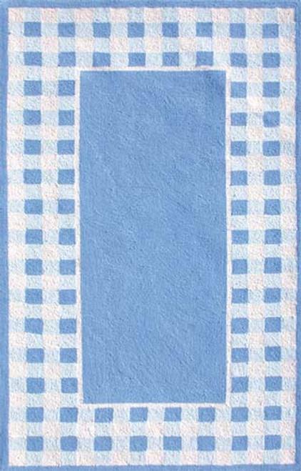 Gingham Blue Rug