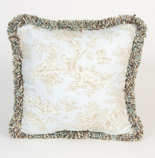 Central Park Toille Pillow with Fringe