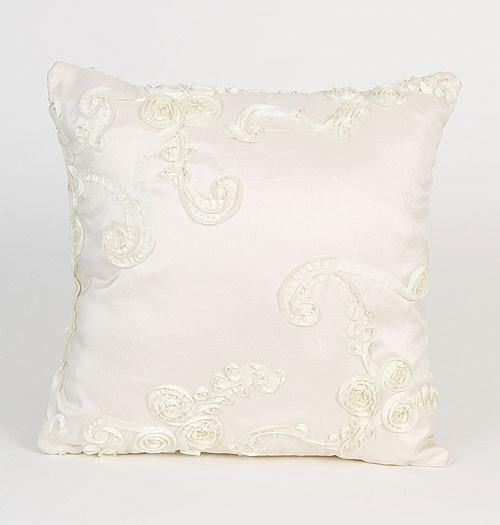 Central Park Cream Ribbon Pillow