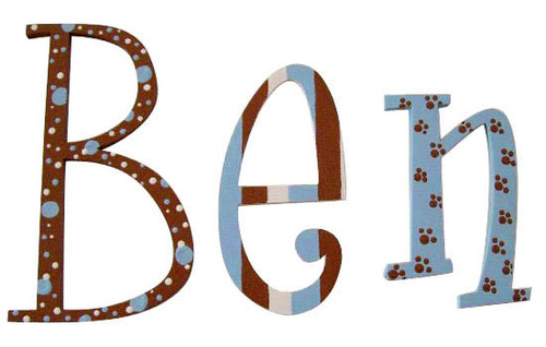 Blue Chocolate Puppy Letters