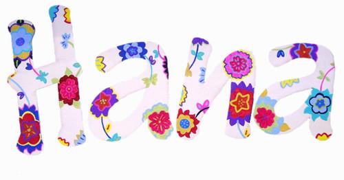 Bohemian Flowers Letters