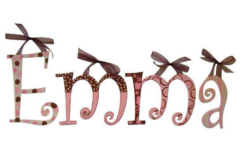 Chocolate Pink Letters