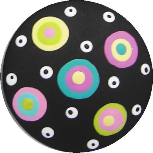 Circle Dot Black Drawer Pull