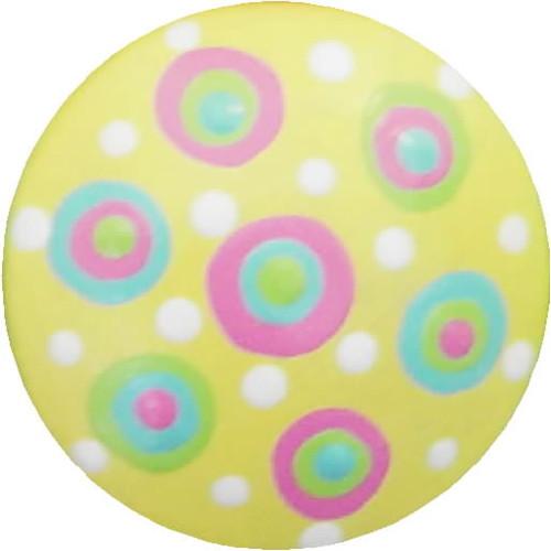 Circle Dot Soft Yellow  Drawer Pull