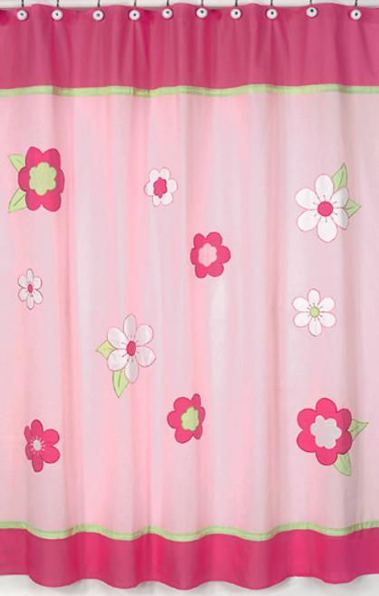 Flower Pink Shower Curtain