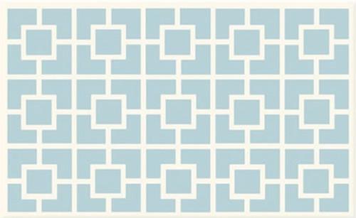 Labyrinth Blue Rug