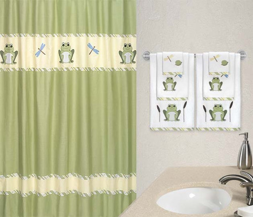 Leap Frog Shower Curtain