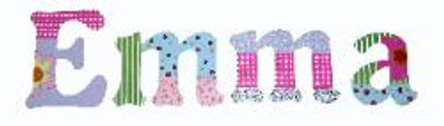 Girls Name Wall Dí©cor Patchwork Garden Letters