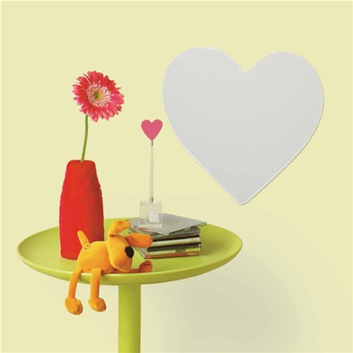 Peel and Stick Heart Mirror