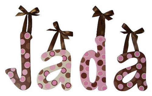 Pink Chocolate Dot Letters
