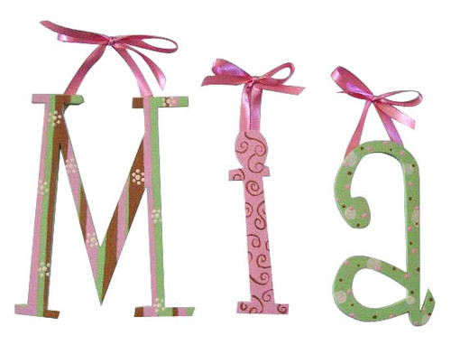 Pink, Green and Chocolate Letters
