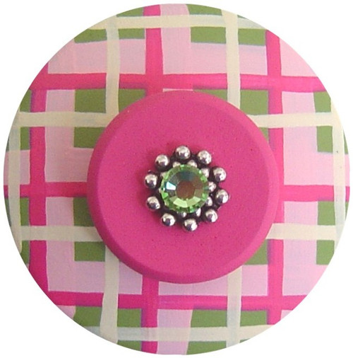 Pinks and Greens Jeweled Drawer Pull