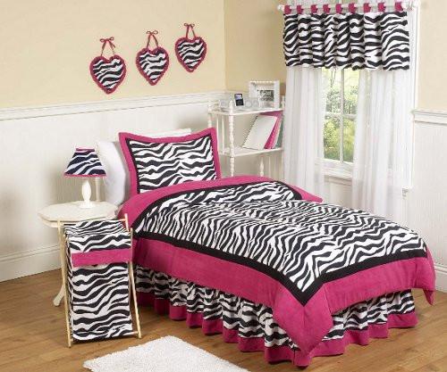 Hot Pink and Zebra Girls Bedding Sets