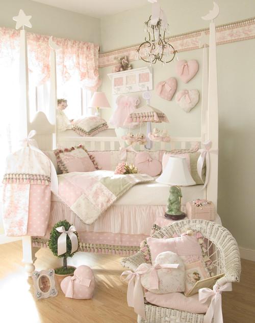 Isabella Pink Star Reversible Fabric