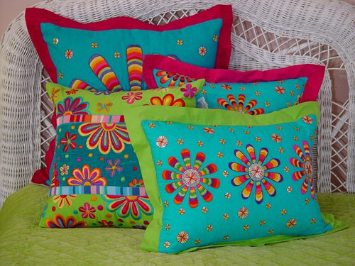 Bright Bed Throw Pillows