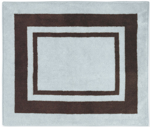 Blue and Brown Hotel Rug