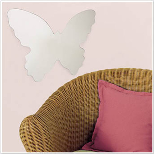Peel and Stick Butterfly Mirror