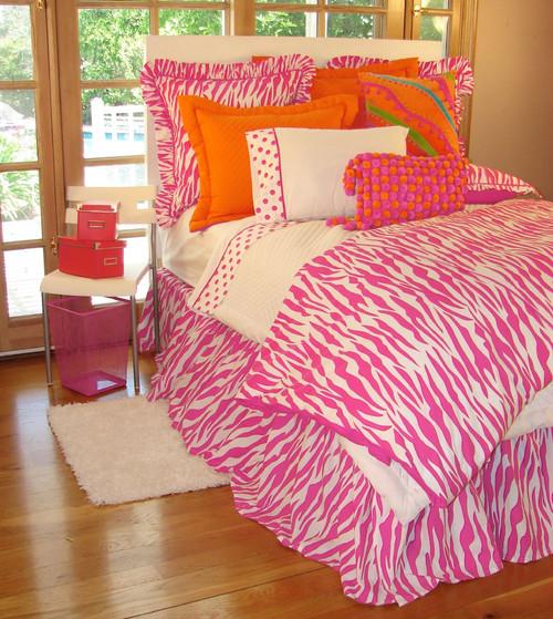 Hot Pink Zebra Girls Bedding Sets