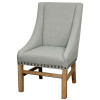Aaron Sloping Arm Chair, Soft Blue