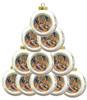Nativity Scene Ceramic Bulb Ornaments- Set of 10