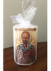 Pick-Your-Saint Hand-dipped Icon Pillar Candle: 3 Sizes Available!