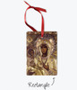 Pick-Your-Saint Metallic Icon Ornament: 9 Shapes Available