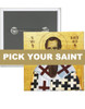 """Pick-Your-Saint 2"""" Square Icon Buttons:  Set of 100"""