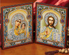 """Matched Set Gold Foil Icon Diptych- 9 1/2 x 5 1/2"""""""