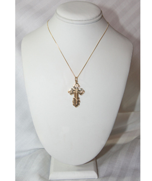 14KYG St. Olga Style Cross- Extra Large- FREE 2 DAY SHIPPING!*
