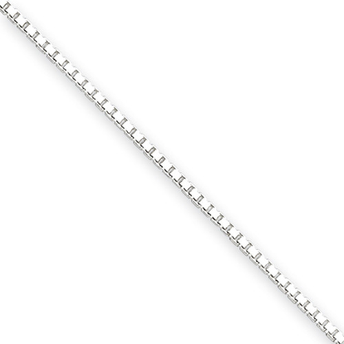 Sterling Silver 1.25mm Box Chain- Variable Lengths