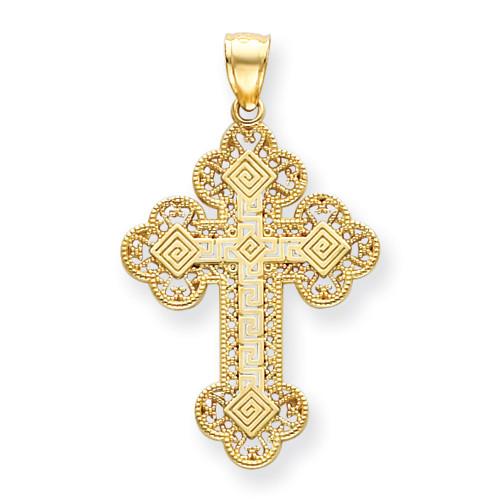 14KYG Greek Filigree Byzantine Cross