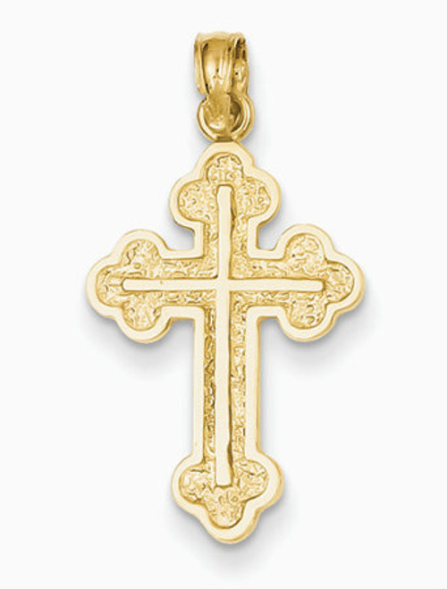 "14KYG Serbian Style Cross- 1""- FREE 2 DAY SHIPPING!*"