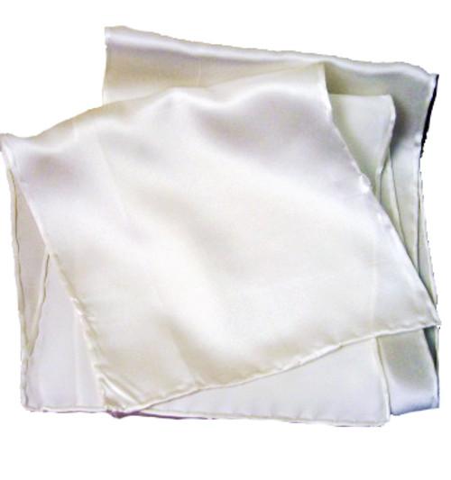 Silk Wedding Hand Cloth- White